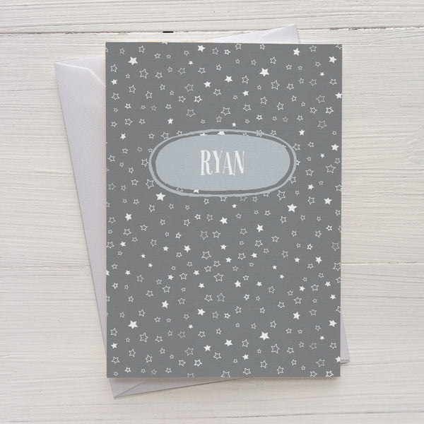 star confetti folded mix and match personalized notecards and gift set