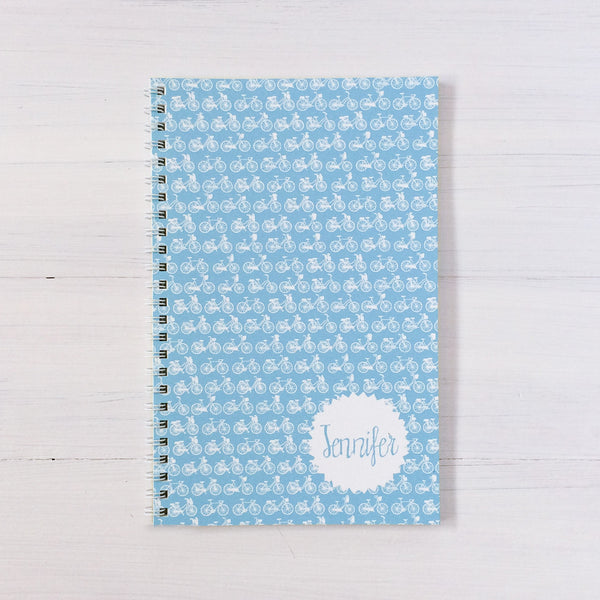 bikes personalized travel notebook set