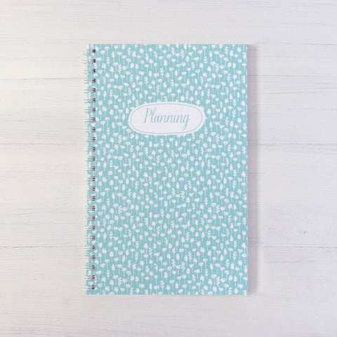 flowers personalized travel notebook