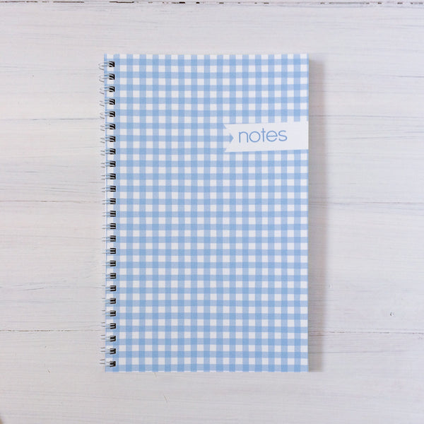 gingham personalized travel notebook