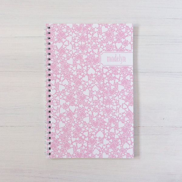 heart bubbles personalized travel notebook