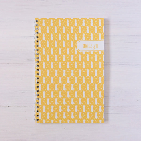 pineapples personalized travel notebook