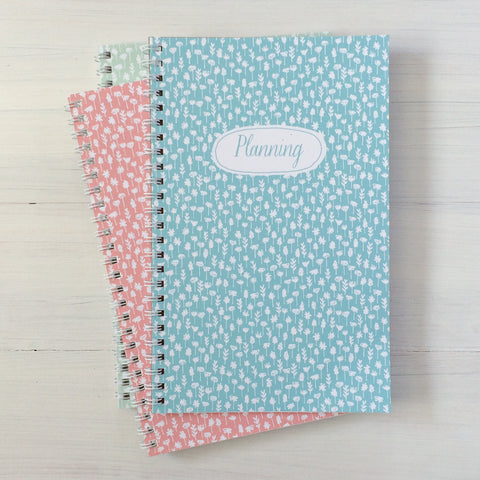 flowers personalized travel notebook set