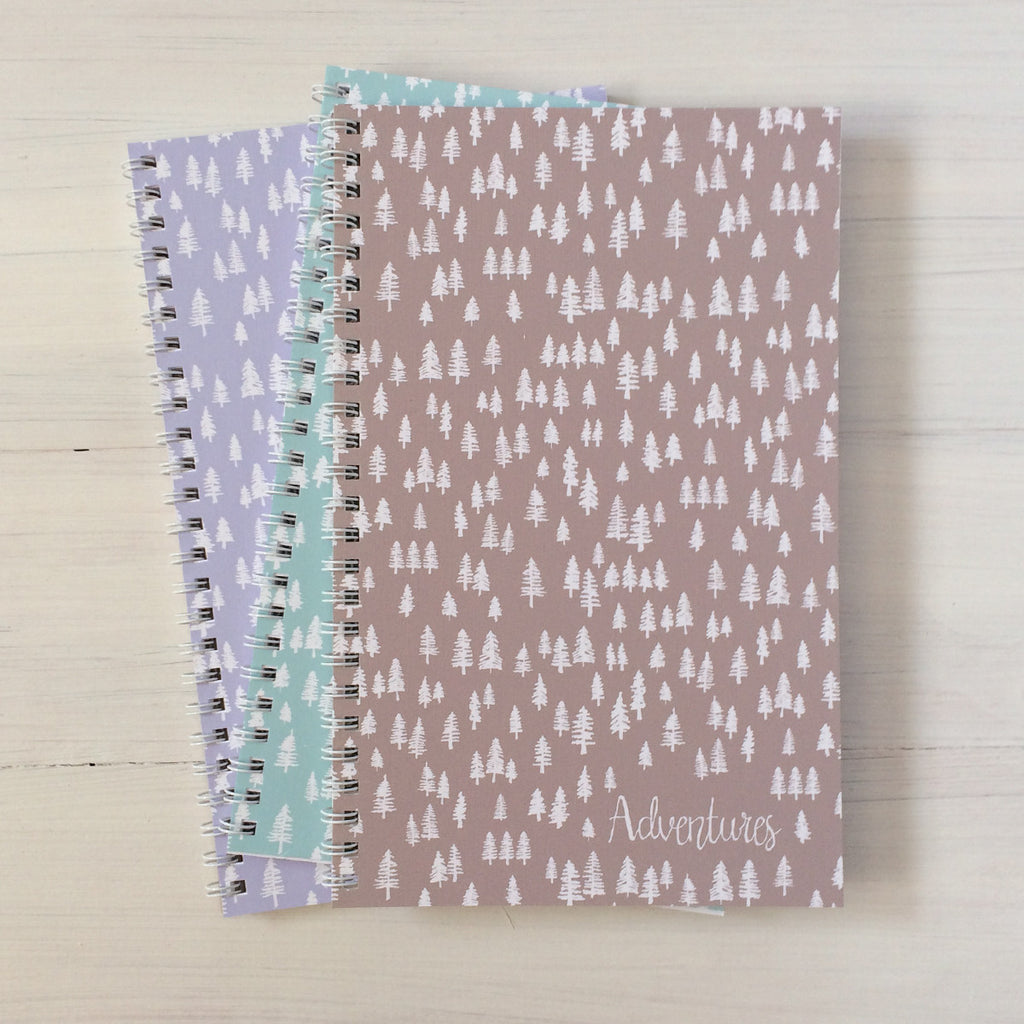 trees personalized travel notebook set