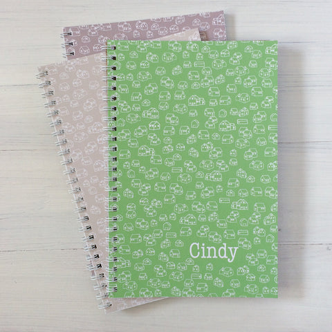 houses personalized travel notebook set