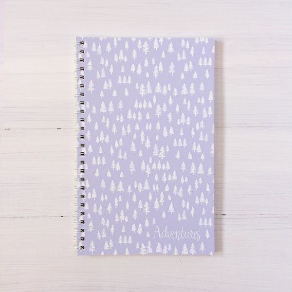 trees personalized travel notebook