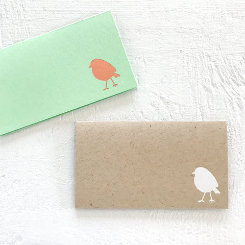 little bird foil stamped place cards