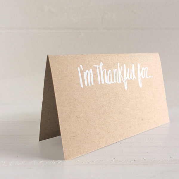 thankful for place cards - script