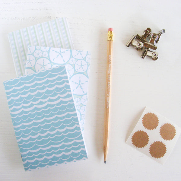 set of 3 pocket journals - at the beach