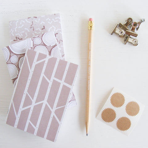 set of 3 pocket journals - in the woods