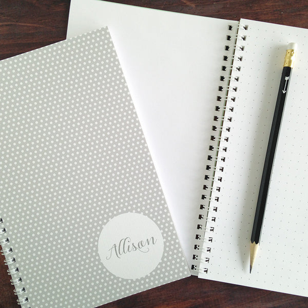 swiss dots personalized travel notebook