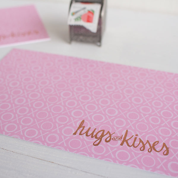 xoxox hugs and kisses postcards