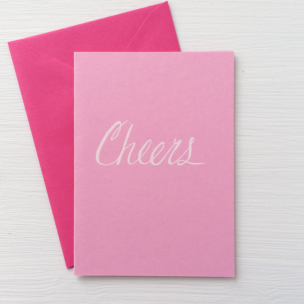 CHEERS folded notecards