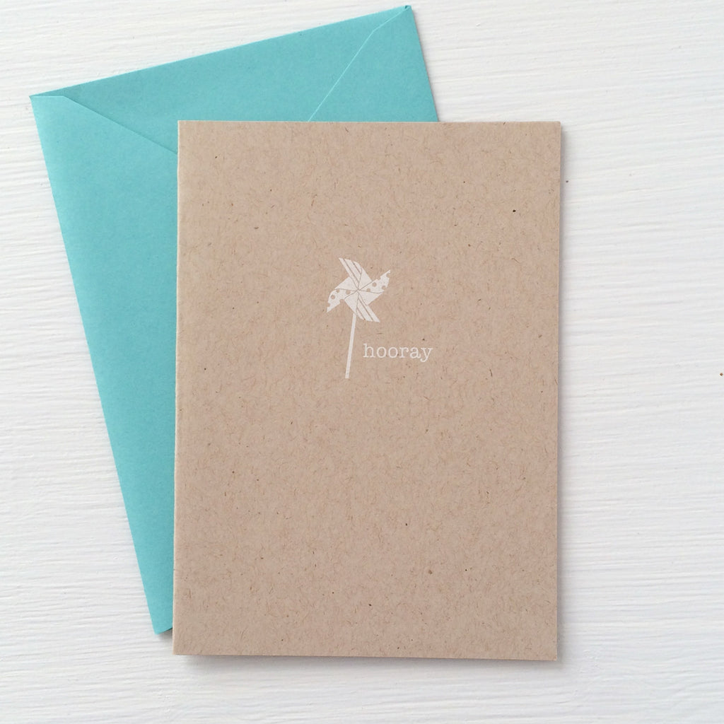PINWHEEL kraft folded notecards