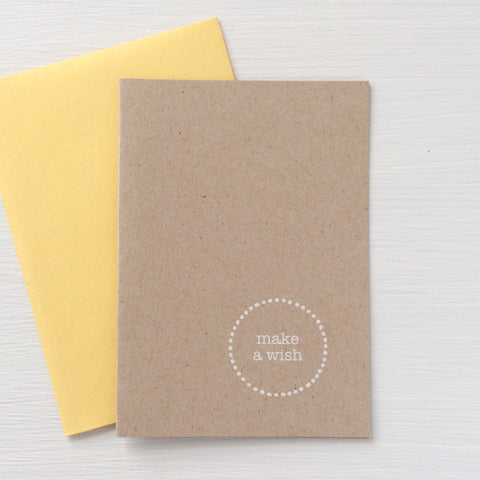 WISH kraft folded notecards