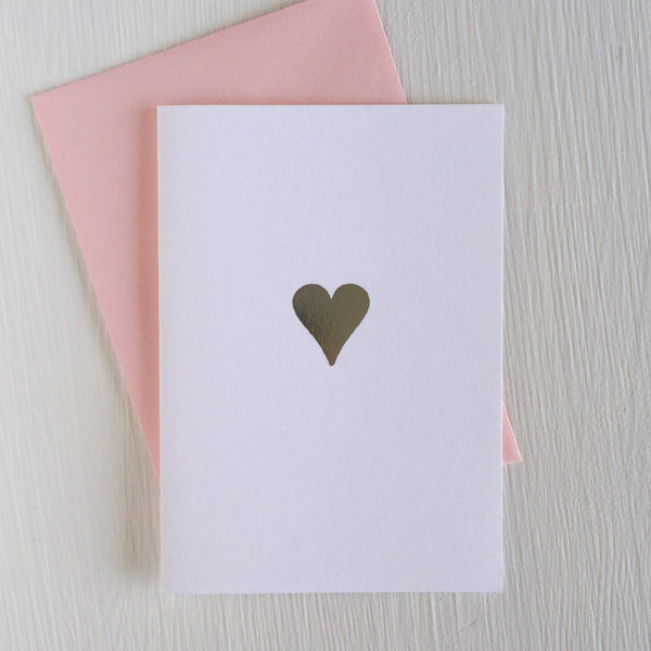HEART folded notecards