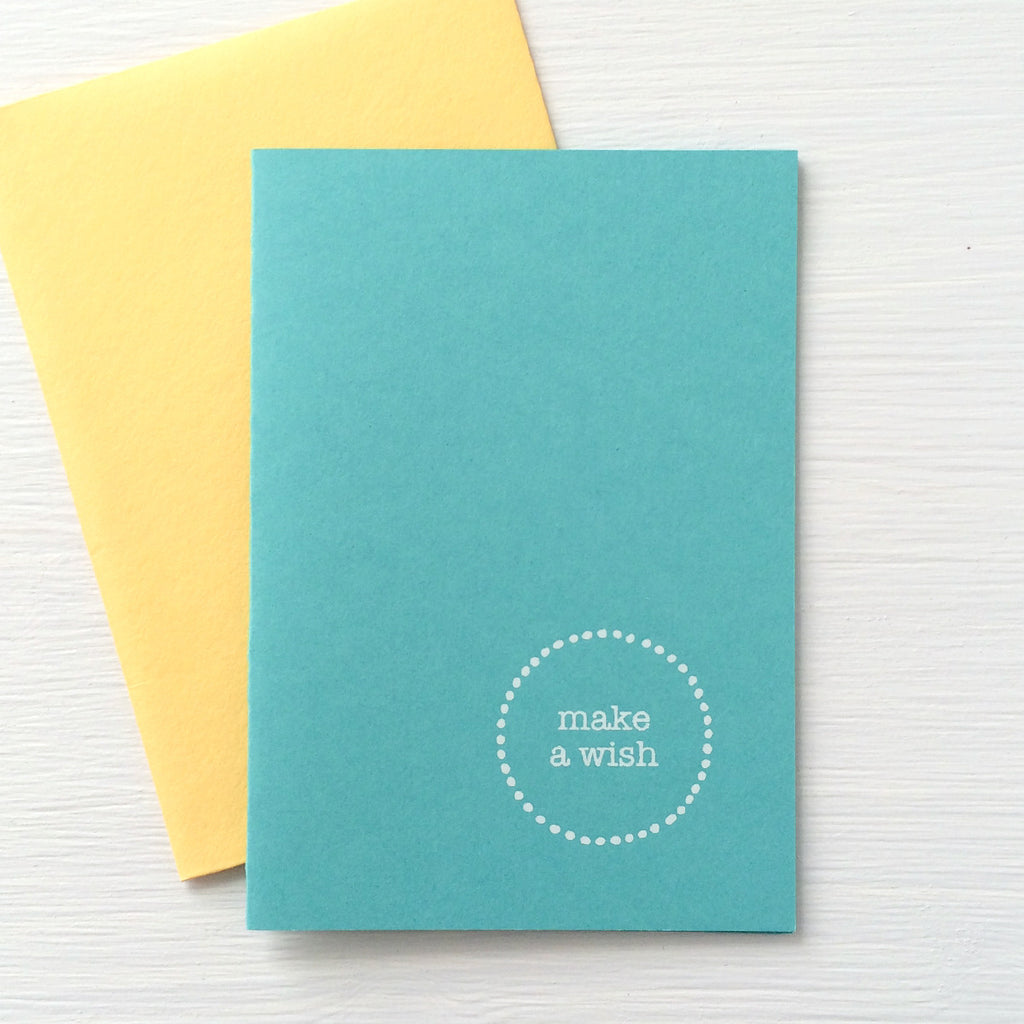 WISH folded notecards