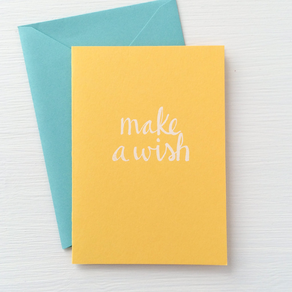 MAKE A WISH folded notecards