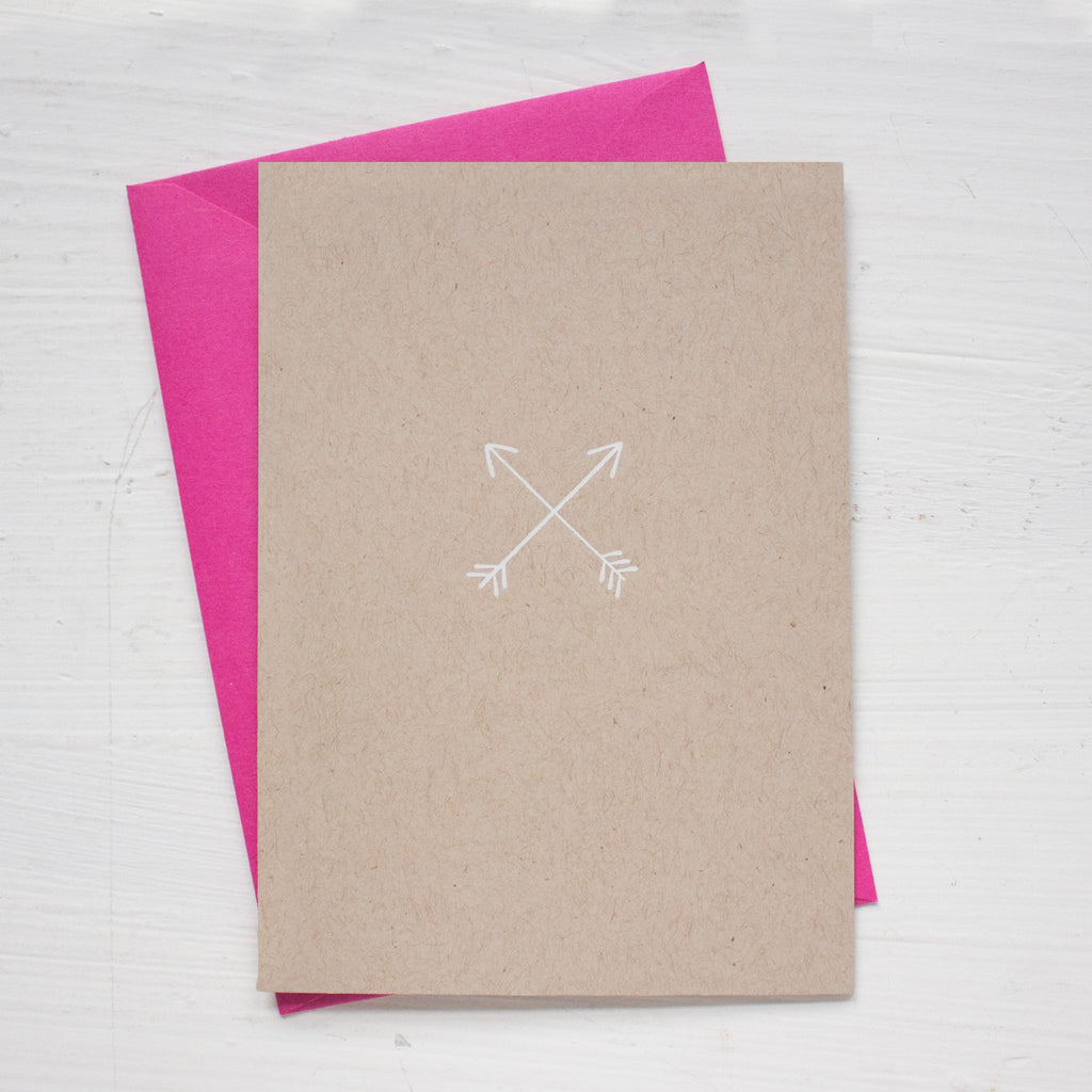 ARROWS kraft folded notecards