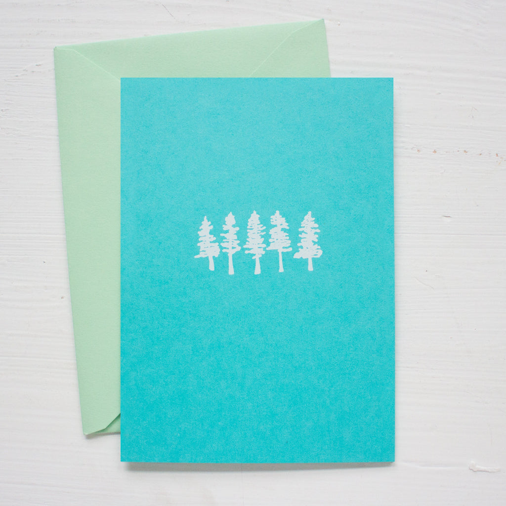 LITTLE TREES folded notecards
