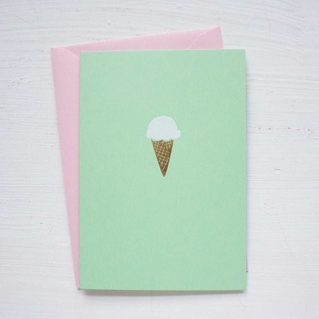 ICE CREAM CONE folded notecards