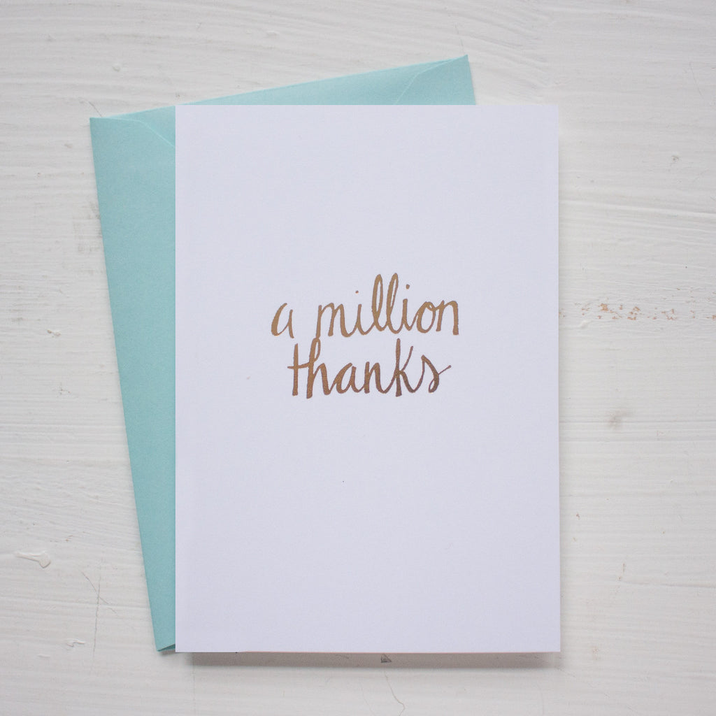 MILLON THANKS folded notecards