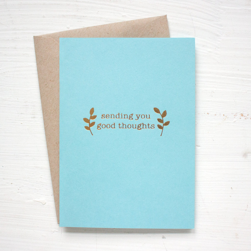 SENDING YOU GOOD THOUGHT folded notecards