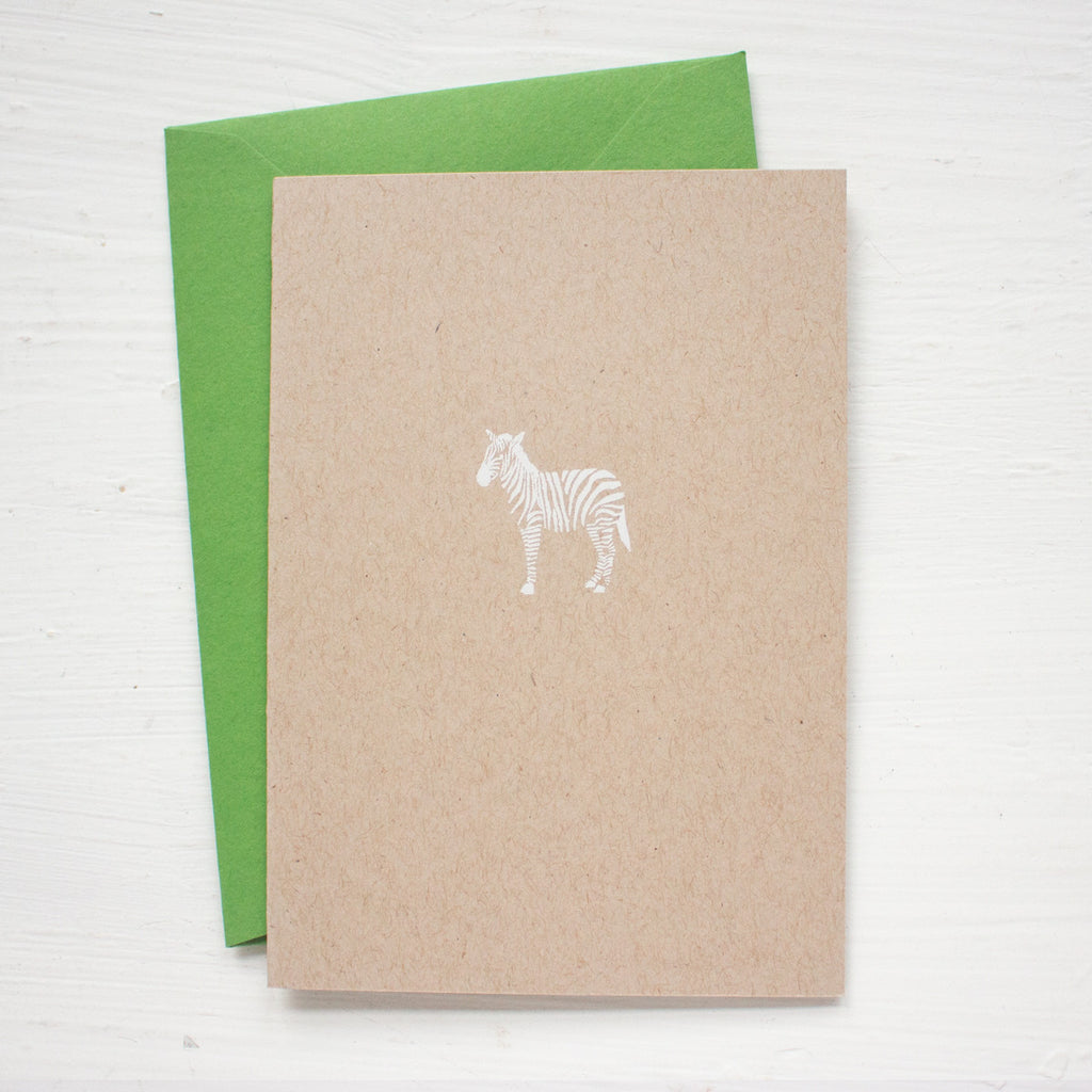 ZEBRA kraft folded notecards