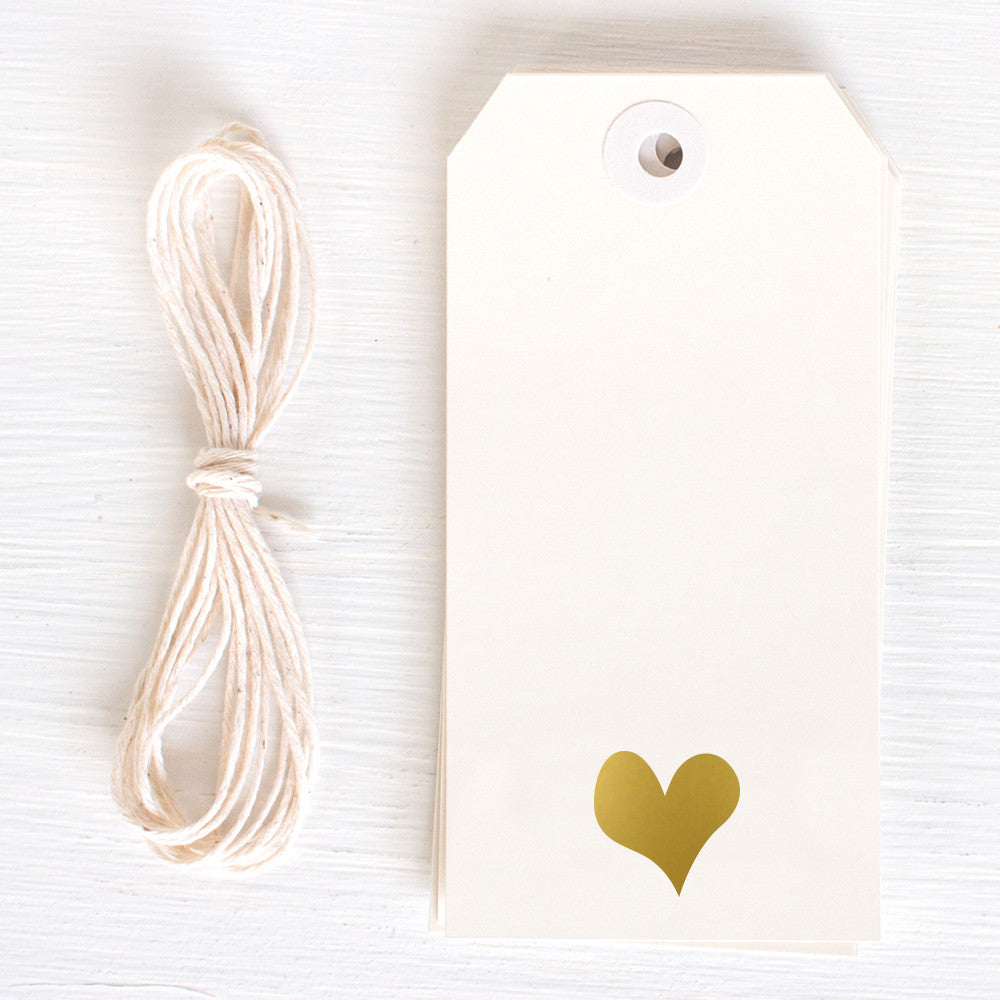 gold gift tag - heart