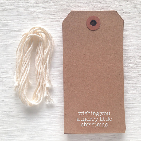 kraft gift tag - peace, love and joy