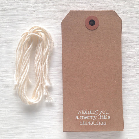 kraft gift tag - merry little christmas