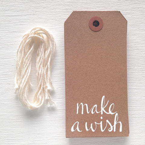 kraft gift tag - make a wish