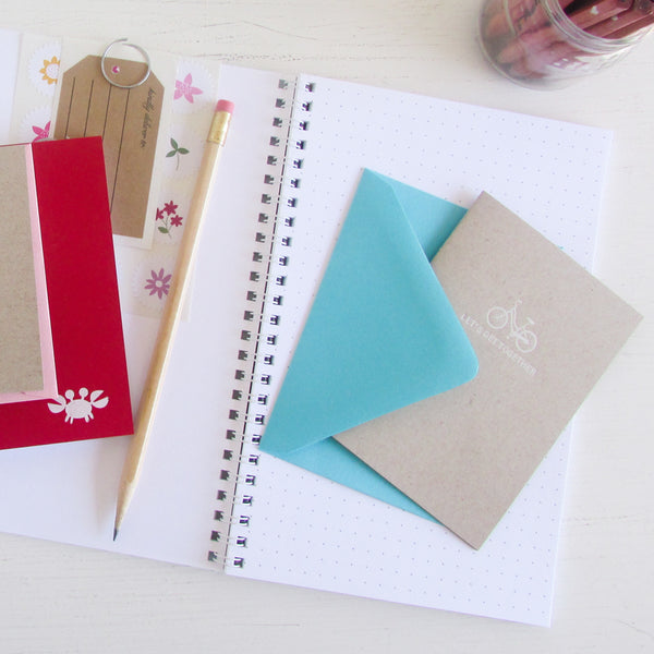 personalized rose gold foil pressed notebook set
