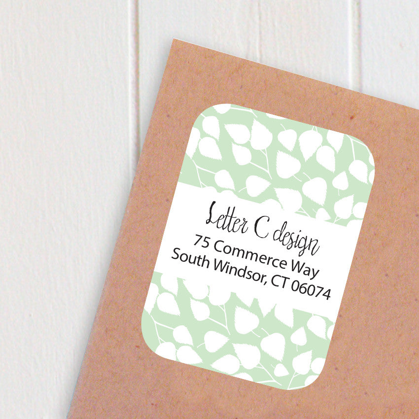 birch leaves address labels