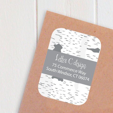 birch bark address labels