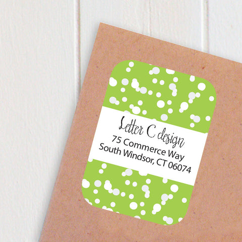 confetti address labels
