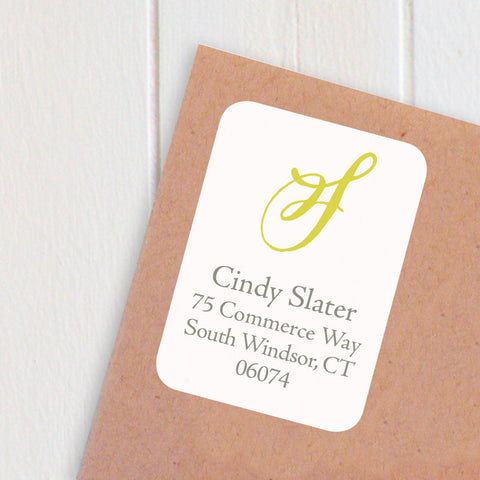 rectangular initial address labels