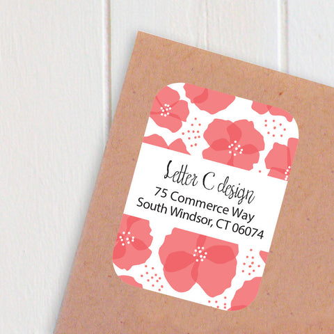 poppies address labels