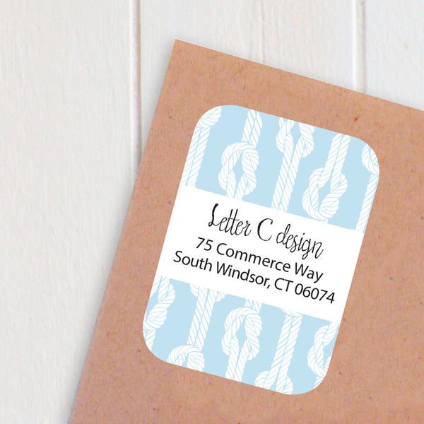 nautical ropes address labels