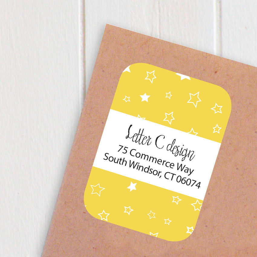 star confetti address labels