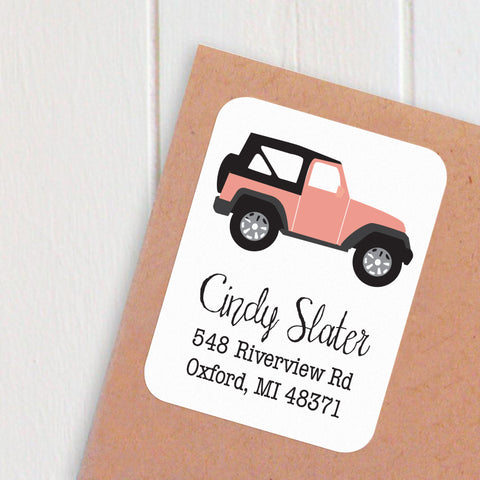 address labels jeep wrangler