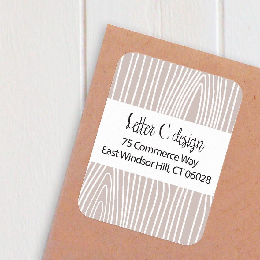 wood panel address labels