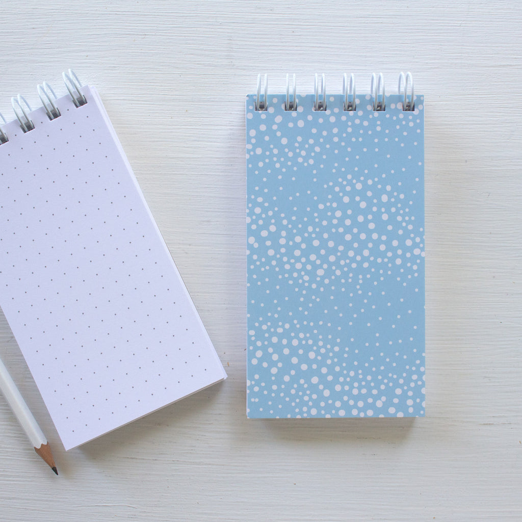 mini reporter notebook - STORMY DOTS