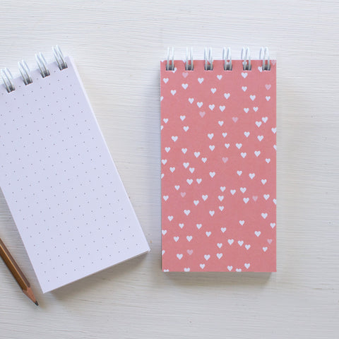 mini reporter notebook - HEARTS