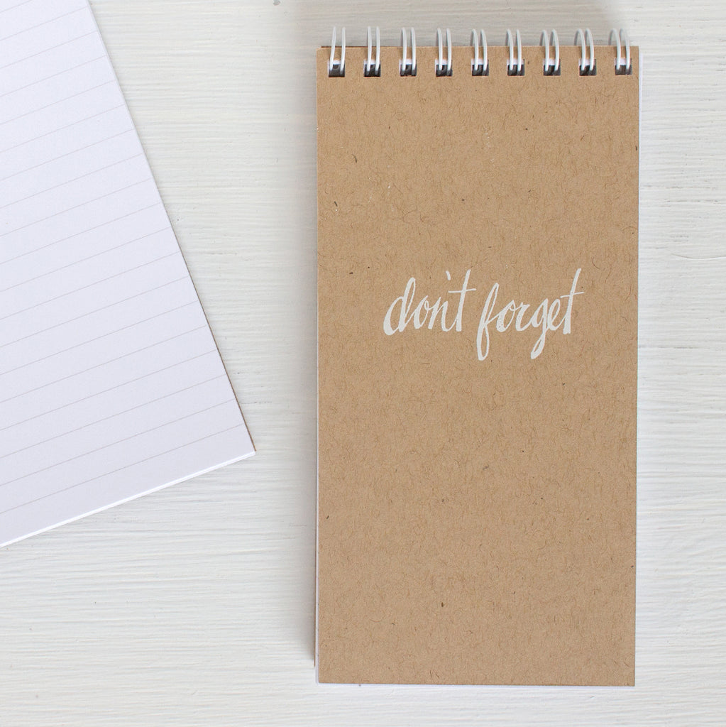 kraft pressed mini reporter notebook - DON'T FORGET