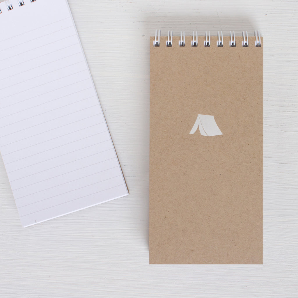 kraft pressed mini reporter notebook - TENT
