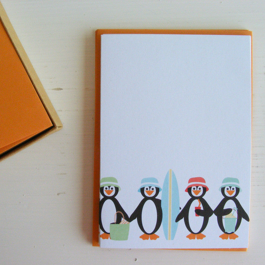 chillen penguins note card set