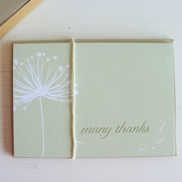 dandelion note card set