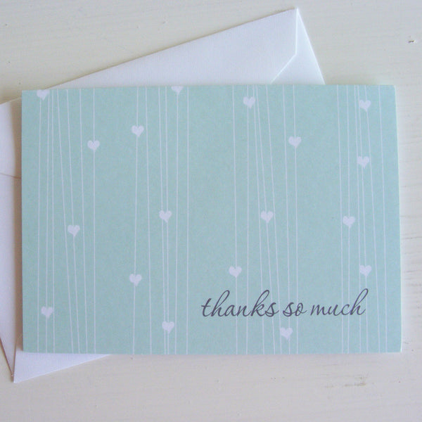 falling heart note card set