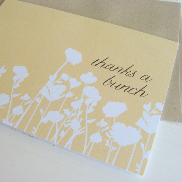 poppy note card set
